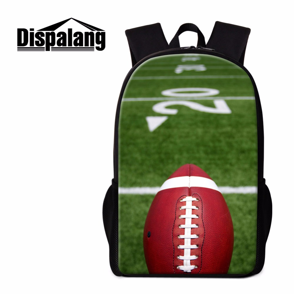 Dispalang Sporty School Backpack for Teenagers Ball 3D Printed Back Pack Socceri Bagpack Cool Rucksack for Boys Children Bagpack