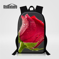 Dispalang Female Daily Travel Backpacks Rose Designer School Bookbag For Elementary Students Oxford Grily Mochila Bagpack