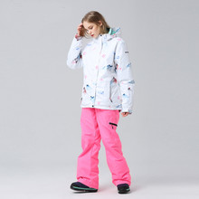 New  Winter Ski Suit Women Skiing Coat Snowboarding Sets Snowboard Jacket and Pants Outdoor Hiking Skiing  Camping Sportswear 2018 new lover men and women windproof waterproof thermal male snow pants sets skiing and snowboarding ski suit men jackets