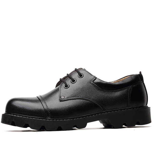 OUDINIAO Mens Shoes Large Sizes Casual British Genuine Cow Leather Men Shoes Footwear Army Officer Classic Shoes Men Black
