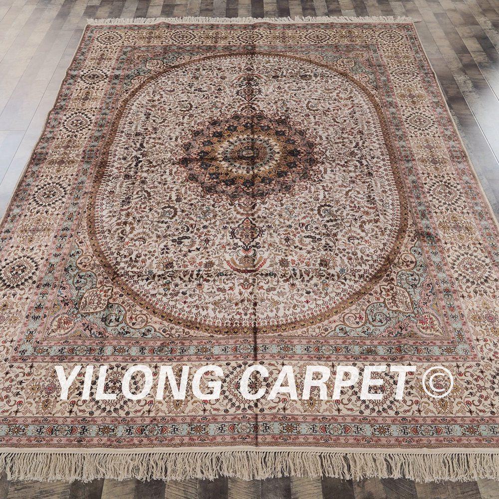 YILONG 8\'x10\' tapis en soie turque classique traditionnel ...