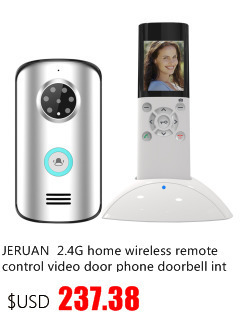 JERUAN 2.4G wireless remote control video door phone doorbell intercom system 2V1kit waterproof infrared night vision camera