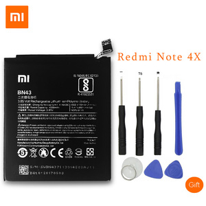 Image 1 - XiaoMi Original Replacement Battery For Xiaomi Redmi Note 4X 4 X Capacity 4000/4100mAh BN43 Mobile Phone Battery