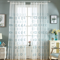 Kitchen Tulle Curtains Circle Translucidus Modern Window Decoration White Sheer Voile Curtains For Living Room Baby