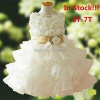 Adorabile Ragazza Dei Bambini Della Principessa Dress, Girl Pageant Vestito Da Partito, Abiti di Compleanno,, Flower Girl Dress vestido de daminha