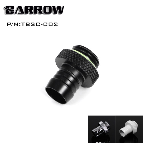 Barrow Add Liquid Fitting Use For 9.5*12.7mm / 10*16mm Soft Tube G1/4'' Computer Accessories Fitting 3/8 Hand Tighten Fitting
