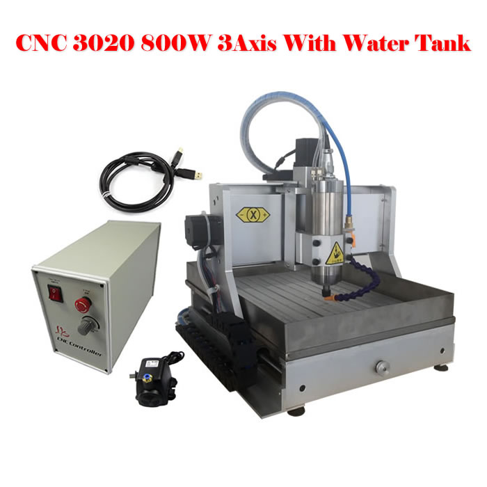 No tax to Russia,Desktop cnc router 800W 3020 3axis cnc milling machine with water tank no tax to russia miniature precision bench drill tapping tooth machine er11 cnc machinery