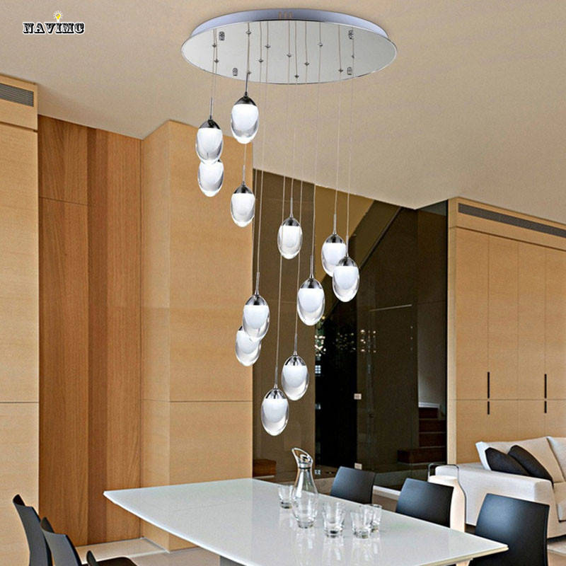 6 Light LED Ceiling Light Fixture Large LED Lustre Lamp