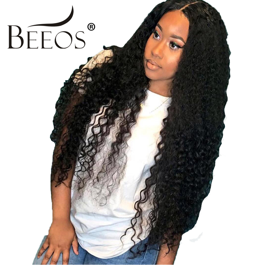 Curly 360 Lace Frontal Wig Pre Plucked Hairline With Baby Hair 180% Density For Women Brazilian Hair Remy Lace Wigs