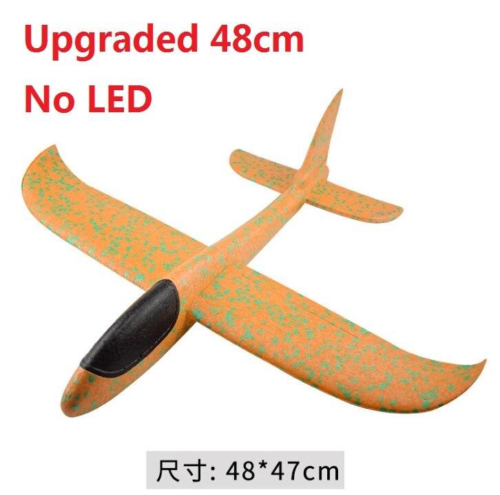 Jet de main avion EPP mousse en plein air lancement planeur avion enfants jouets 48 cm lancement intéressant lancer inertiel modèle cadeau jouets 5