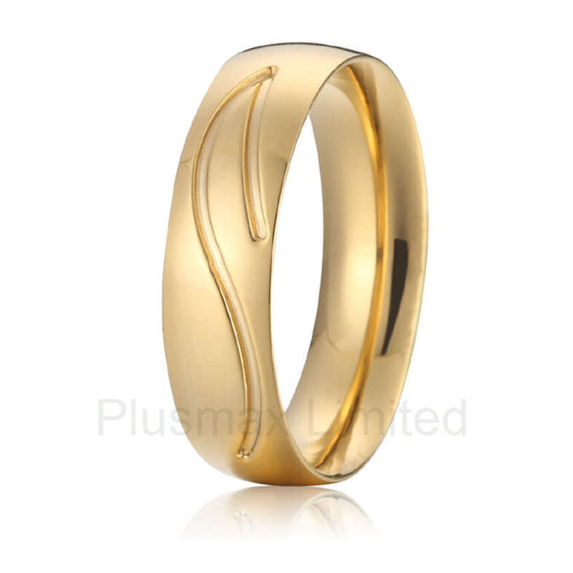 цена на high quality China Supplier forever love titanium fashion jewelry gold color wedding rings for men