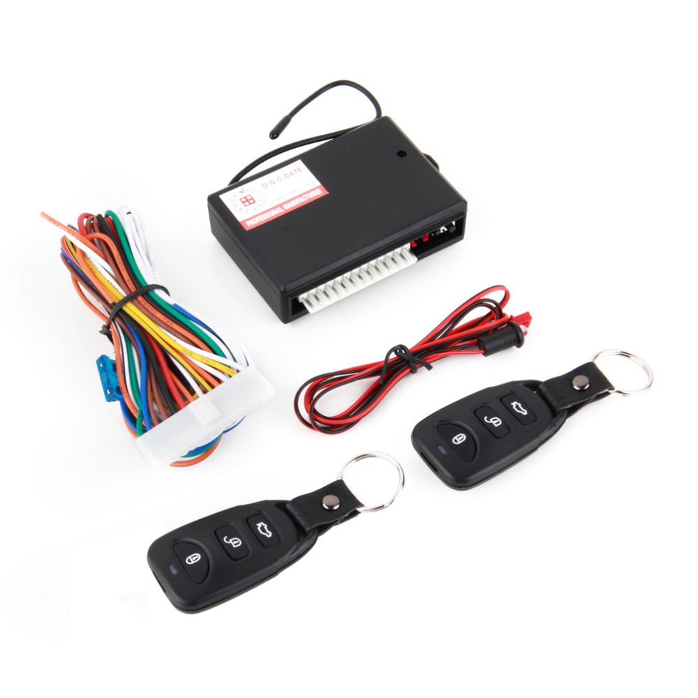 2017 Auto Car Remote Central Lock Door Kit Keyless Entry System New Vehicle Lock With Remote Control Controllers.2 x Remote Cont