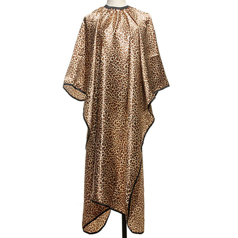Fashion Leopard Hair Cape Hairdressing Cut Salon Hairstylist Barber Gown Cloth Sleeve Wrap Styling Tools Quality