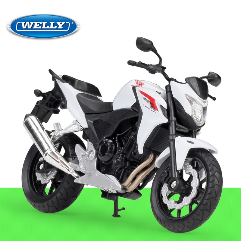 1:18 Welly Honda 2014 CB500F White Alloy Diecast Motorcycle