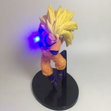 Dragon Ball Z toy Son Goku DIY Display Led Light Kamehameha 150mm Anime Super Saiyan Action Figure toys gift