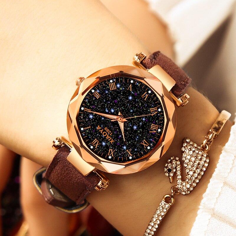 2019 Luxury XIAOYA Fashion Ladies Watches Rose Gold Women Watches Elegant Minimalism Rhinestone Casual Female Waterproof Clock