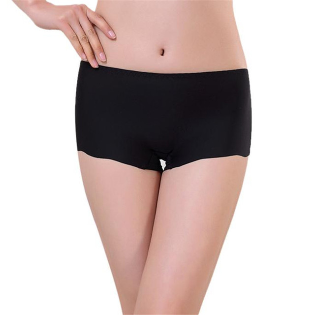 dc8960ecd Women Invisible Underwear Spandex tanga Briefs for women Underpants girl  boxer Seamless Crotch shorts women Thong lingerie solid