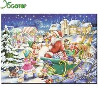 YOGOTOP DIY 5D Diamond Mosaic Kits Full Diamond Painting Cross Stitch Santa Claus Gift Diamonds Embroidery