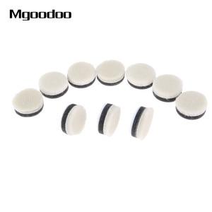 Image 1 - 20 pçs 1 Polegada 25mm lã polimento polimento enceramento almofada de pintura do carro cuidados polidor roda disco polonês para broca dremel ferramenta rotativa