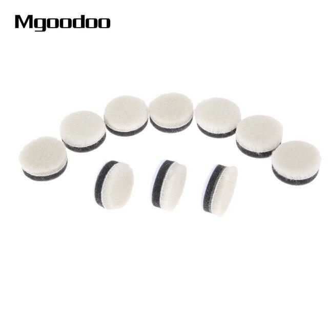 20 pçs 1 Polegada 25mm lã polimento polimento enceramento almofada de pintura do carro cuidados polidor roda disco polonês para broca dremel ferramenta rotativa
