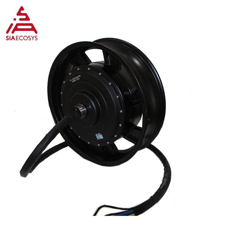 17X4.5inch 12kW 273 70H V3 Air Cooled Brushless DC Electric Hub Motor For Motorcycle