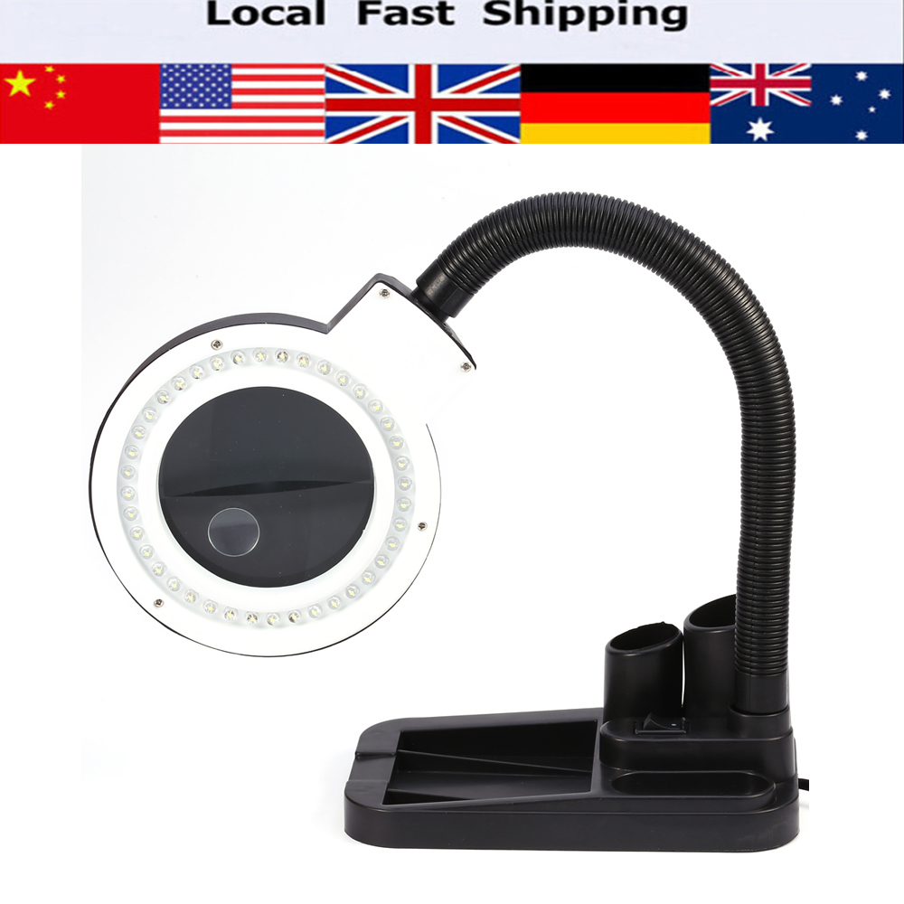Led energy saving magnifying crafts glass desk lamp with for 10 x 40 window