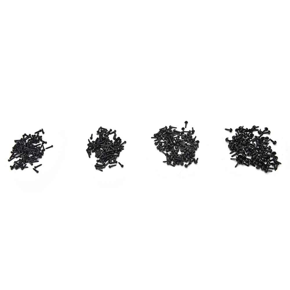 100 шт. черный Изделия из пластика глаза безопасности для медведь мягкая игрушка кукла животных амигуруми DIY аксессуары 3мм 4мм 5мм 6мм