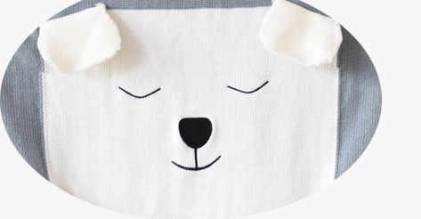 110 センチメートル x 80 センチメートル 3 色漫画の動物のかわいいベビークマの毛布にスロー/ベッド/飛行機旅行毛布限定ウール糸毛布