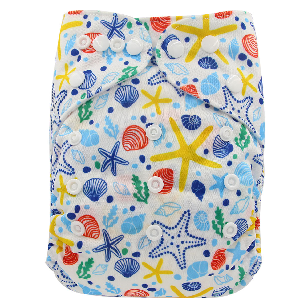 Image 4 - Ohbabyka Diaper Cloth Baby Nappies Adjustable Baby Cloth Diaper One Size Couche Lavable Washable Diaper Pocket Cover 10pcs/lot-in Baby Nappies from Mother & Kids