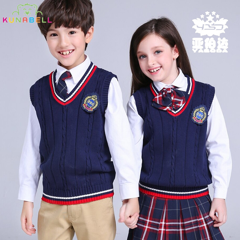 New 2017 Spring autumn 100 cotton baby cardigan boy s V neck sweater vest kids waistcoat
