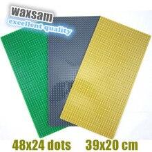 3pcs/lot Wange Large particles Blocks Baseplates 48*24 particles Base plate with size39*20cm Toys