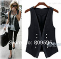 Free shipping 2014 spring fashion handsome lady vest ,  Plus size women suit vest , size S-XXXL