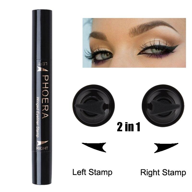 Beauty Essentials Eyeliner Phoera Eyeliner Pencils Cat Eye Makeup Sexy Liners Double-end Winged Eyeliner Stamp Waterproof Liquid Eye Liner Enhancer Tattoo