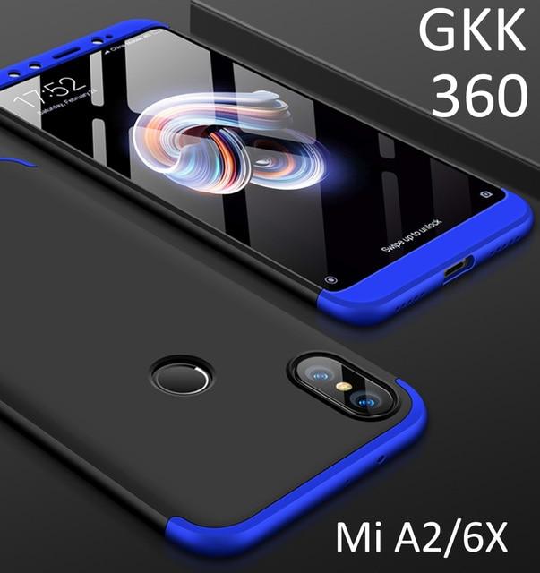 cheaper 8894d 76405 Original GKK Phone Case For Xiaomi Mi A2 6X 360 3 in 1 Full Protection  Double Dip PC Hard Back Slim Cover MiA2 mi 6x