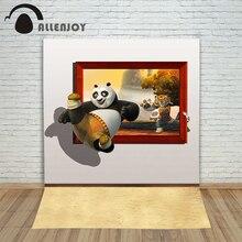Allenjoy photographic background Panda cartoon tiger photo frame backdrops children princess photo digital 10×20