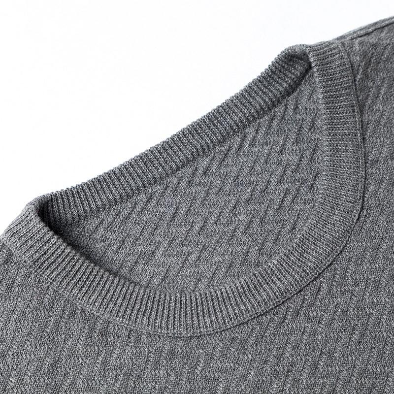 Markless O-neck Sweater Men 100% Cotton Winter Warm Stripe Sweaters Pullover Men Christmas pull homme sueter hombre MSA3710M