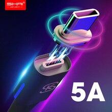 Автомобильные магнитные usb-кабели для зарядки 5A Type C, супер быстрый QC 4,0 для Huawei p20 lite plus Huawei Mate 20 Pro Honor 10 phone SIKAI