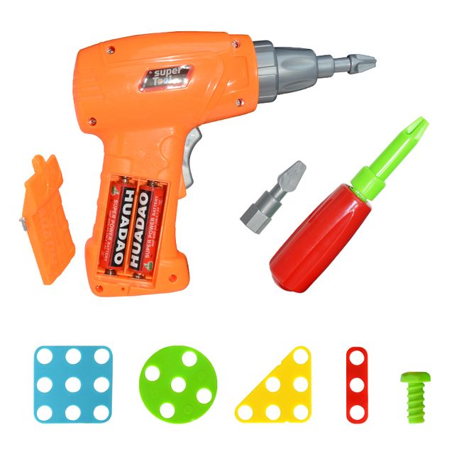 Kit with Electric Drill for Kids