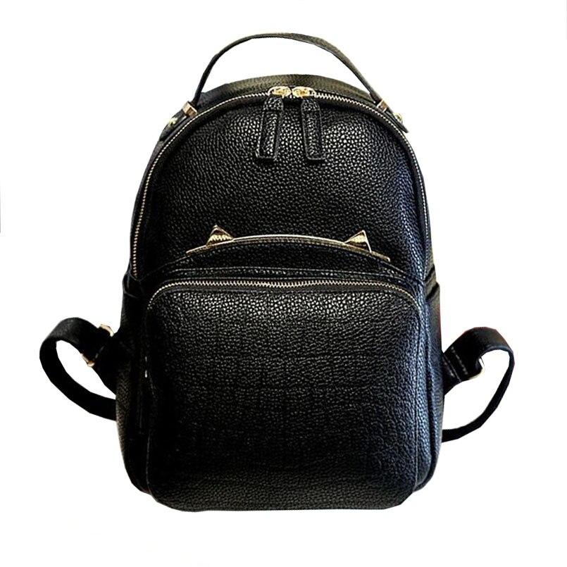 mochila preta pu couro mochilas Material Principal : Plutônio
