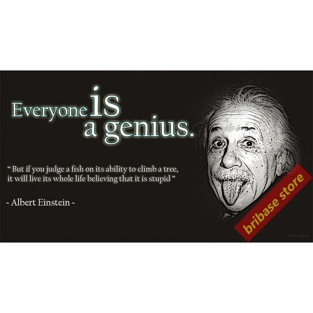 Mathematik Zitate Albert Einstein Poster Leinwand Kunst Steve Jobs Geist Karte Poster Malerei Kalligraphie Wohnkultur