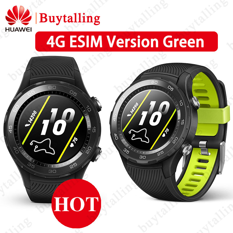 Original Global Rom Huawei Watch 2 Smart Watch Support LTE 4G bluetooth Heart Rate Tracker Android