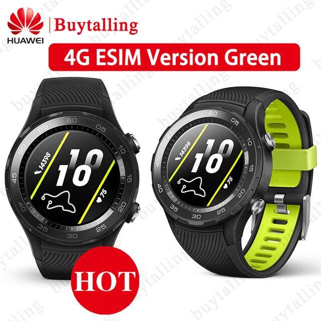 Ban Đầu Toàn Cầu Rom Đồng Hồ Huawei Watch 2 Đồng Hồ Thông Minh Hỗ Trợ 4G/Bluetooth Theo Dõi Nhịp Tim Android IOS IP68 chống Thấm Nước NFC GPS