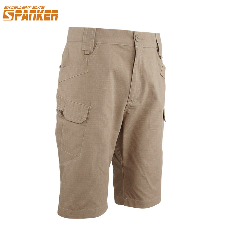 EXCELLENT ELITE SPANKER Men Summer Cargo Shorts Outdoor Military Army Camo Shorts Hunting Tactical Quick Drying Male Short Pants