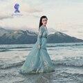 MD1701 otoño Simple del estilo de la vendimia vestido largo del borde del cordón de la gracia clásica mujeres temperamento del vestido musulmán dubai abaya caftán