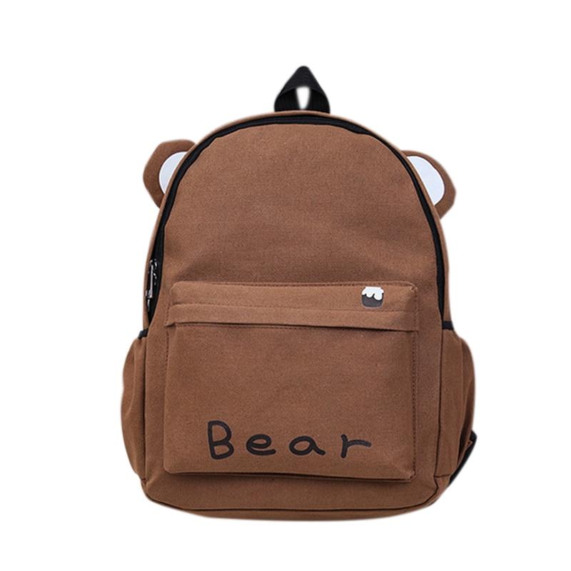 Women Harajuku Style Long Ears Rabbit Cute Cat Brown Bear Backpack Student School Bag Travel Backpack Lby2017