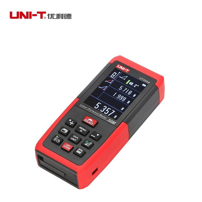 UNI T UT395A 50 m Laser-distanzmessgerät Entfernungsmesser Elektronische Leveler Stativ interface USB Daten Export PC Software 2,4 zoll TFTLCD