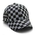 2016 мода марка мужчины повседневная Бейсболки хлопок роскошные качество черный плед джентльмен Бейсбол шляпы шляпа Солнца Спортивная шапка мужчин