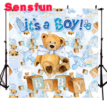 Indoor Baby Child Photocall Cute Photography Background Teddy Vinyl Photo Studio Backdrop Bear Background 3x5ft