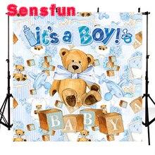 Kryty dziecko dziecko Photocall śliczne fotografia tło Teddy Vinyl Photo Studio tło niedźwiedź tło 3x5ft