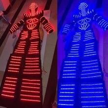 Бесплатная доставка светодиодный костюм/светодиодный Костюмы/Легкие костюмы/светодиодный Робот костюмы/Дэвид робот для вечерние DJ клуб